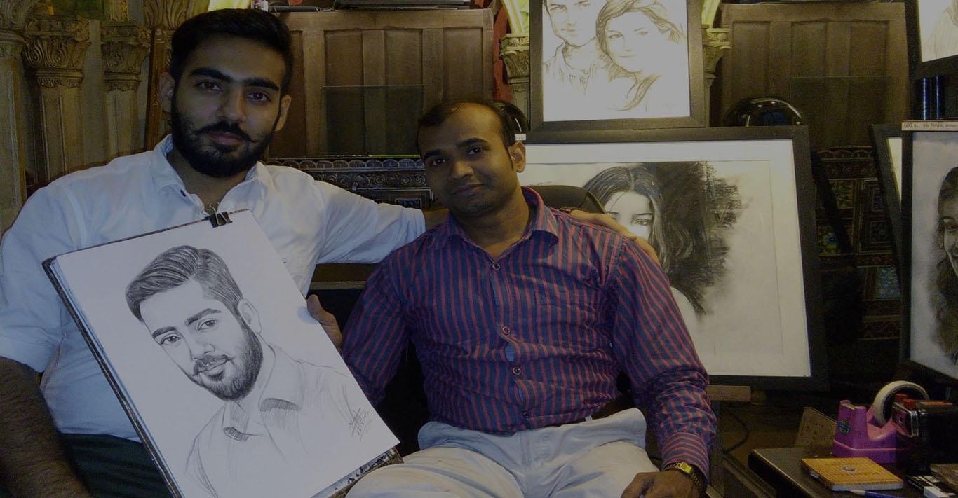 Best Skecth, Portrait, Oil Painting, Charcoal Portrait, Watercolour Portrait Artist in Delhi NCR